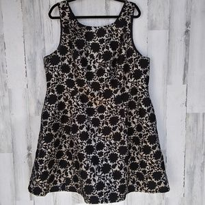 Modcloth Sleeveless Black And Gold Dress